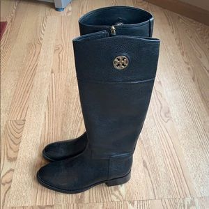PRISTINE CONDITION Tory Burch Black Leather Boots